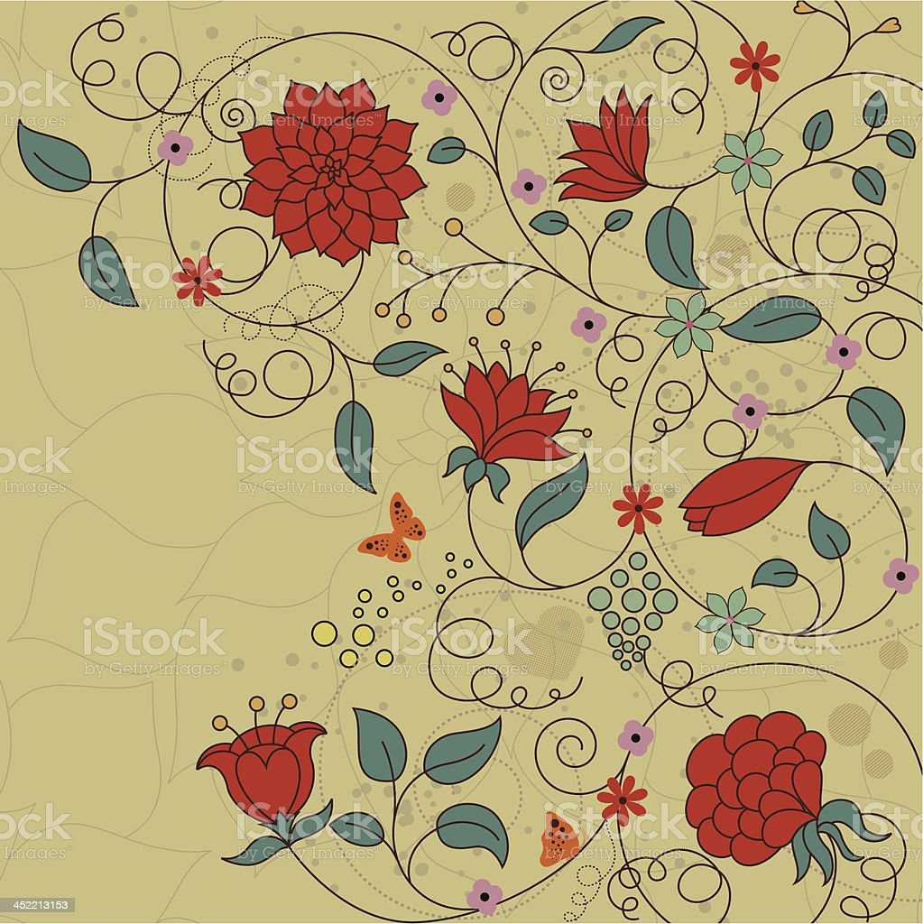 retro floral background royalty-free stock vector art