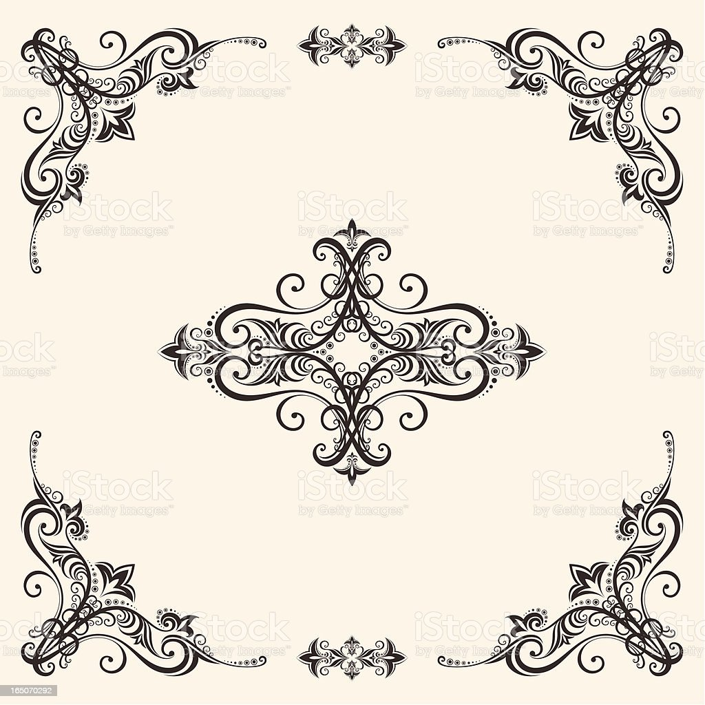 Retro floral frame royalty-free retro floral frame stock vector art & more images of abstract