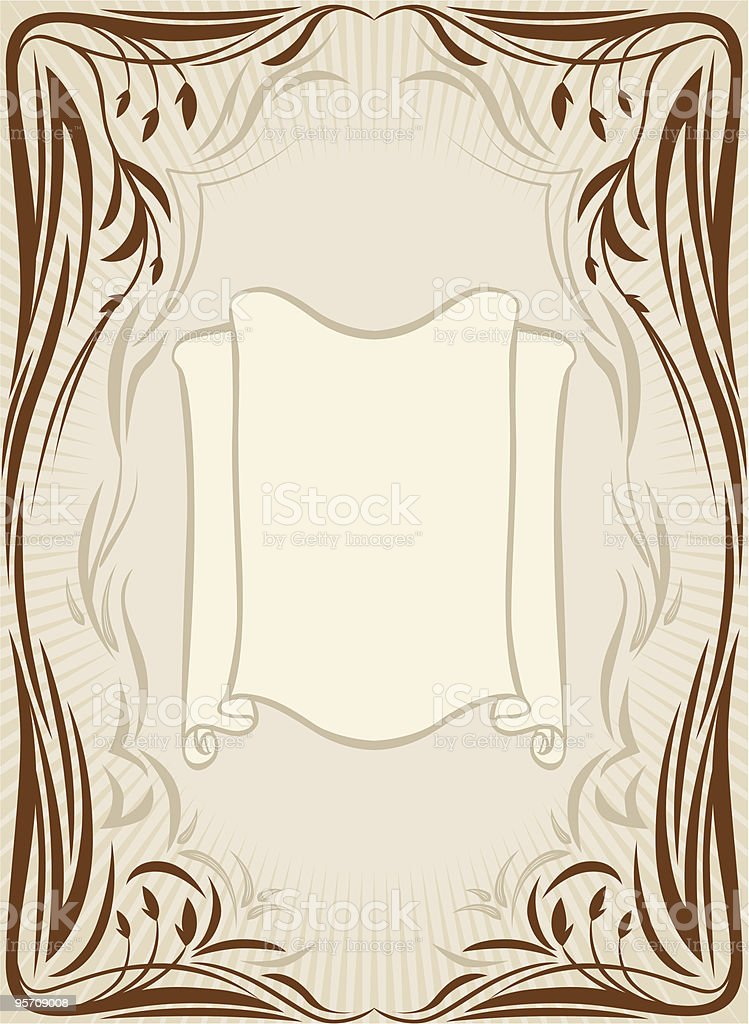 Retro floral frame royalty-free stock vector art