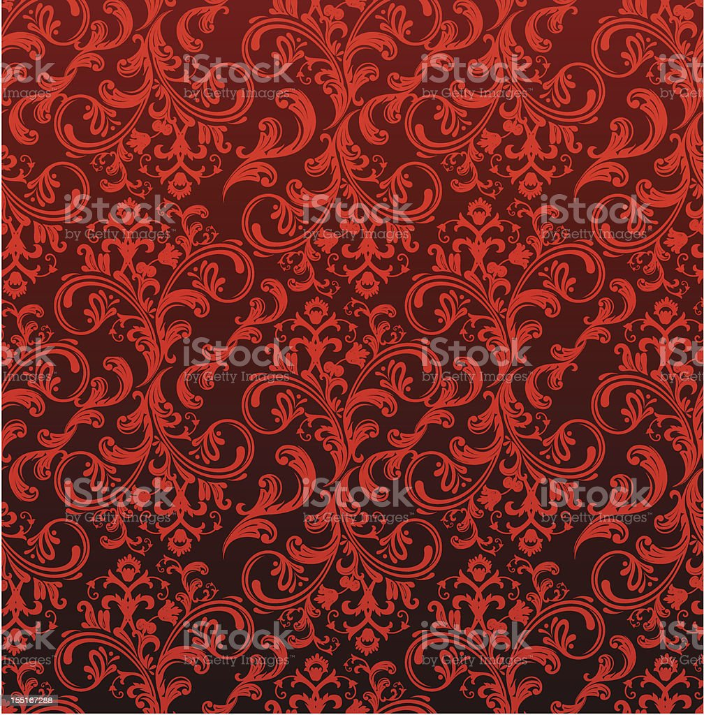 Retro floral ornament royalty-free stock vector art