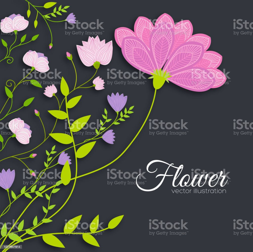 retro flower background concept. Vector illustration design vector art illustration