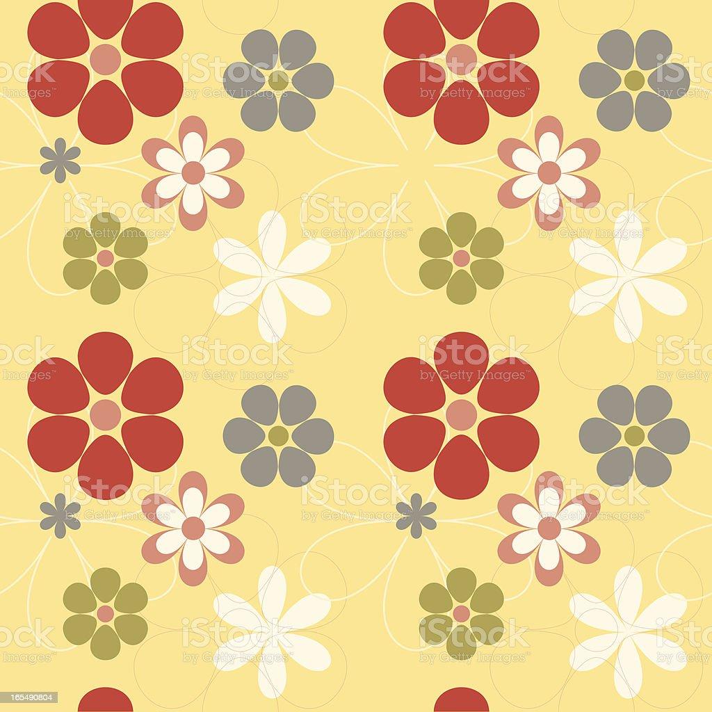 Retro Flower Background - Seamless royalty-free stock vector art