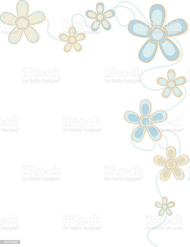 Retro Flower Border - incl. jpeg royalty-free stock vector art