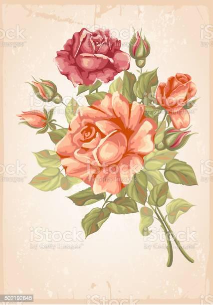 Retro flower card roses vector id502192645?b=1&k=6&m=502192645&s=612x612&h=daesdbsmwswmhlhar6nyhbb56xhdumcvmg3kxrskez8=