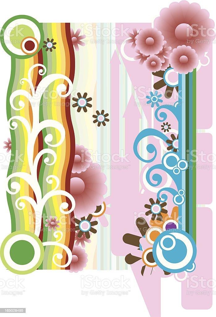 Retro Flower Design Vector royalty-free retro flower design vector stock vector art & more images of 1960-1969