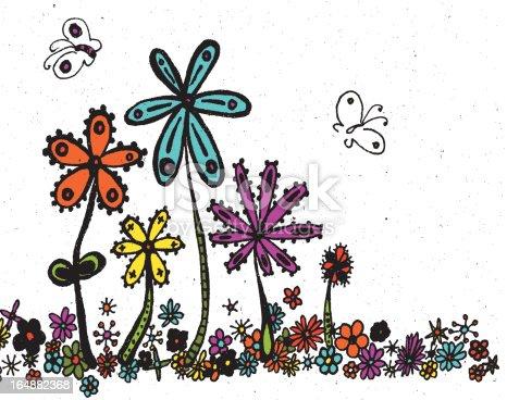 istock retro flowers background 164882368