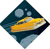 retro flying car