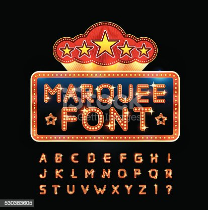 istock Retro font 530383605