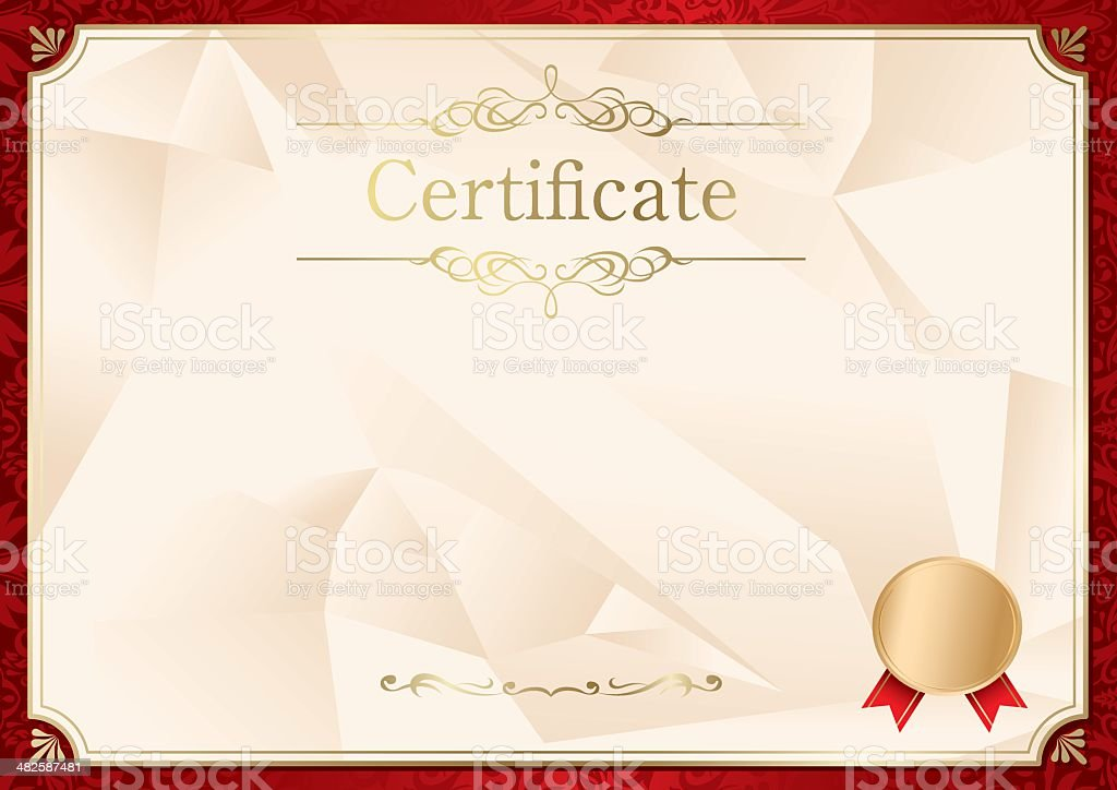 Retro Frame Certificate Template Vector Stock Vector Art  More
