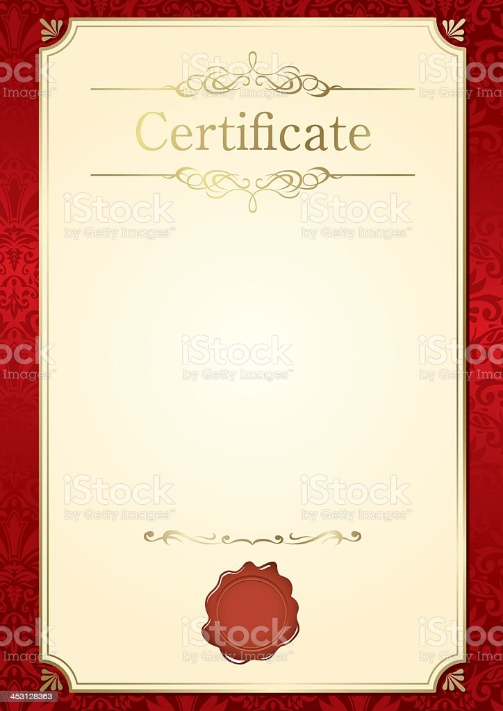 Retro Frame Customizable Certificate Template Stock Vector Art
