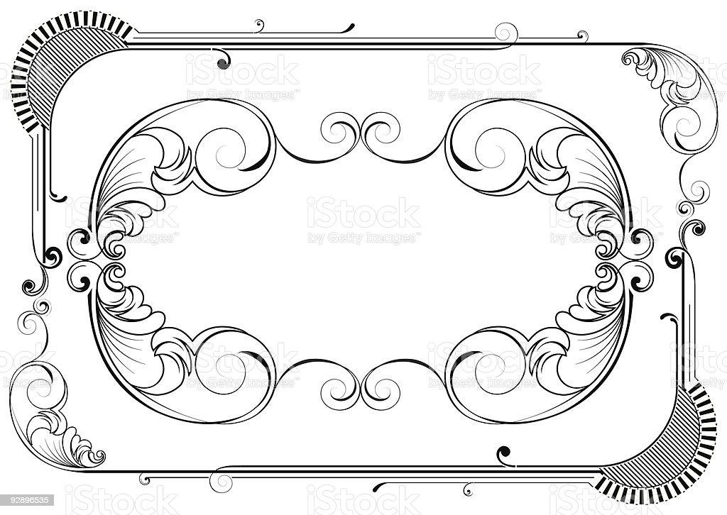 Retro frame design royalty-free stock vector art