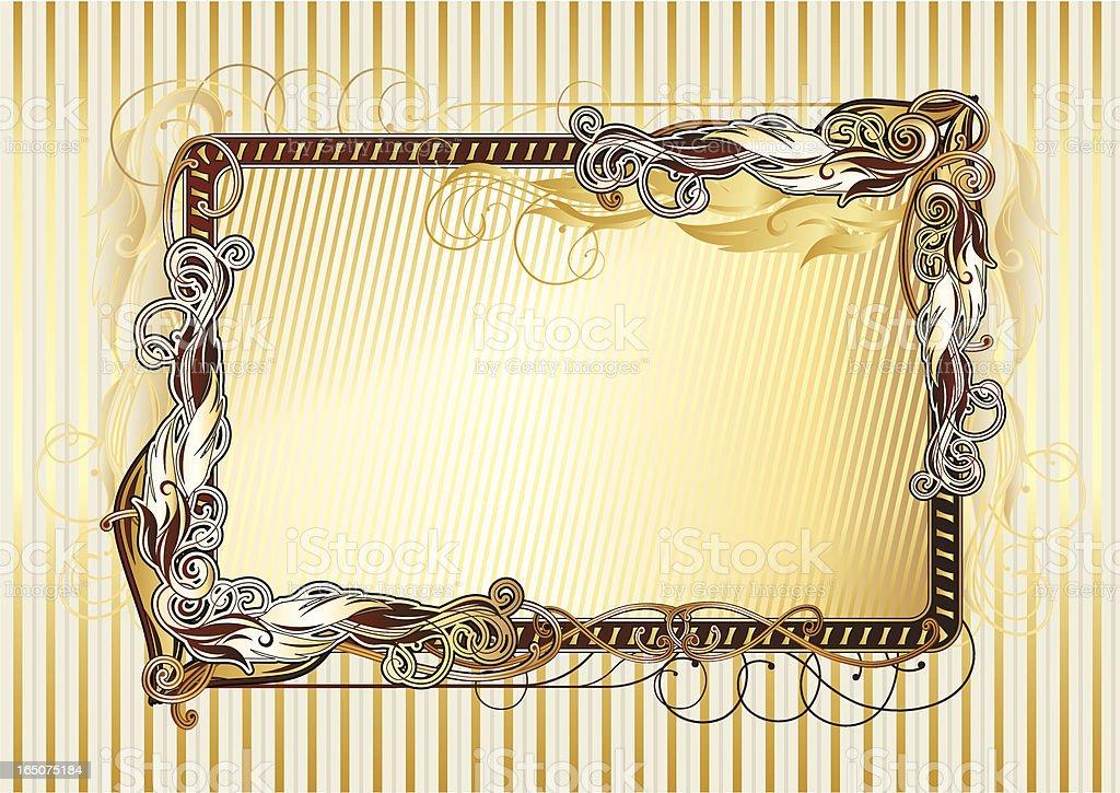 Retro frame IV royalty-free stock vector art