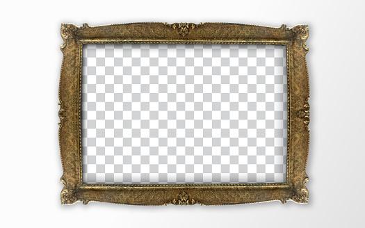 Retro Frame on wood background