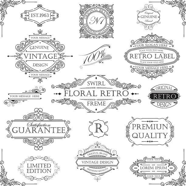 Retro frame-set – Vektorgrafik