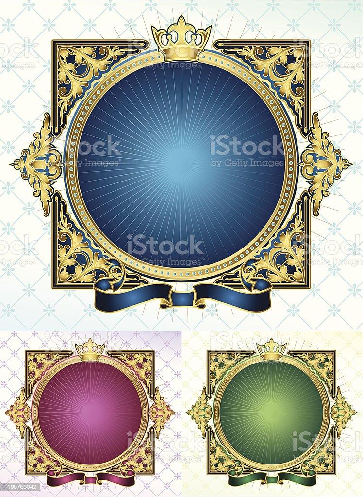 Retro frame royalty-free stock vector art