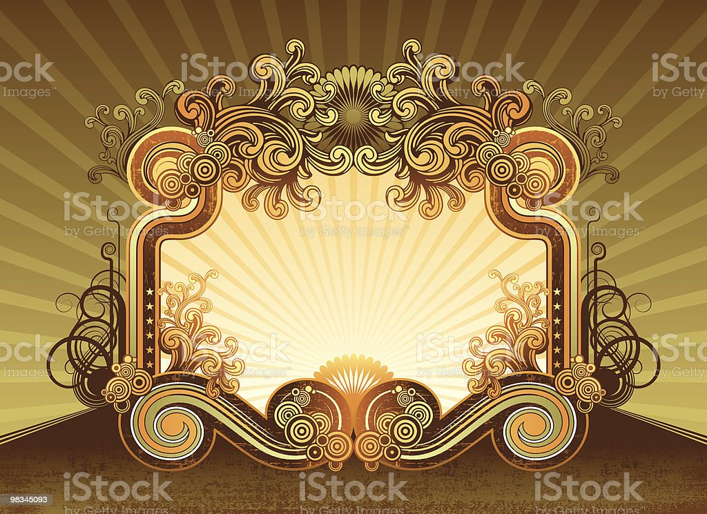Retro frame royalty-free retro frame stock vector art & more images of art and craft