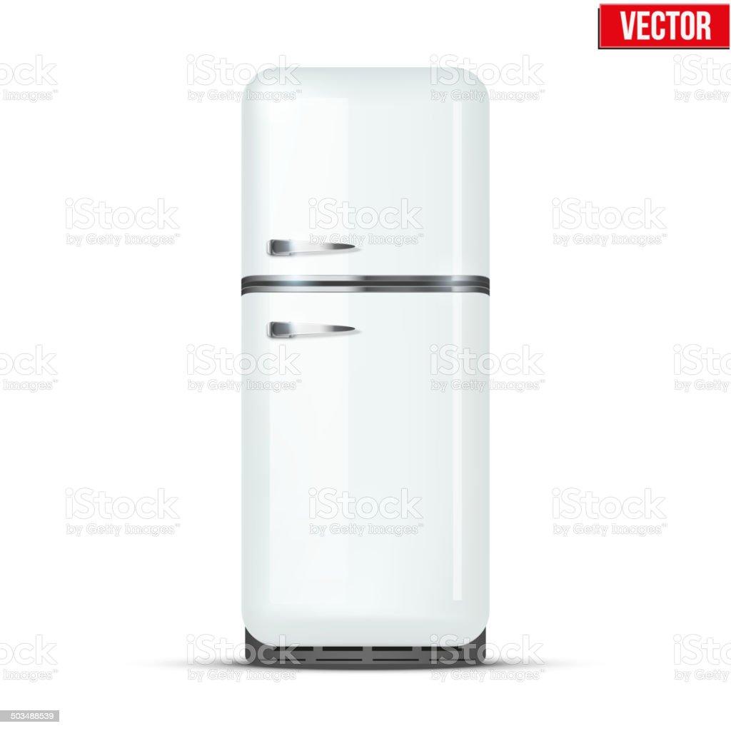 Retro Kühlschrank Und Kühlschrank Vektor Isoliert Auf Weißem ...