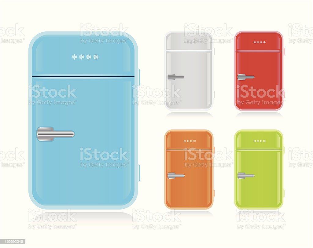 Retrokühlschrank Vektor Illustration 165692046 | iStock