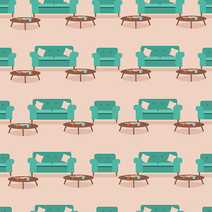 Retro Furniture Repeating Pattern