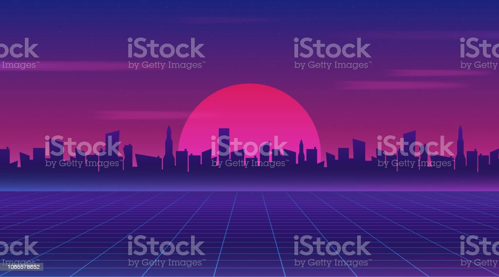 Retro Future 80s Style Scifi Wallpaper Futuristic Night City