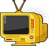 Retro futuristic television