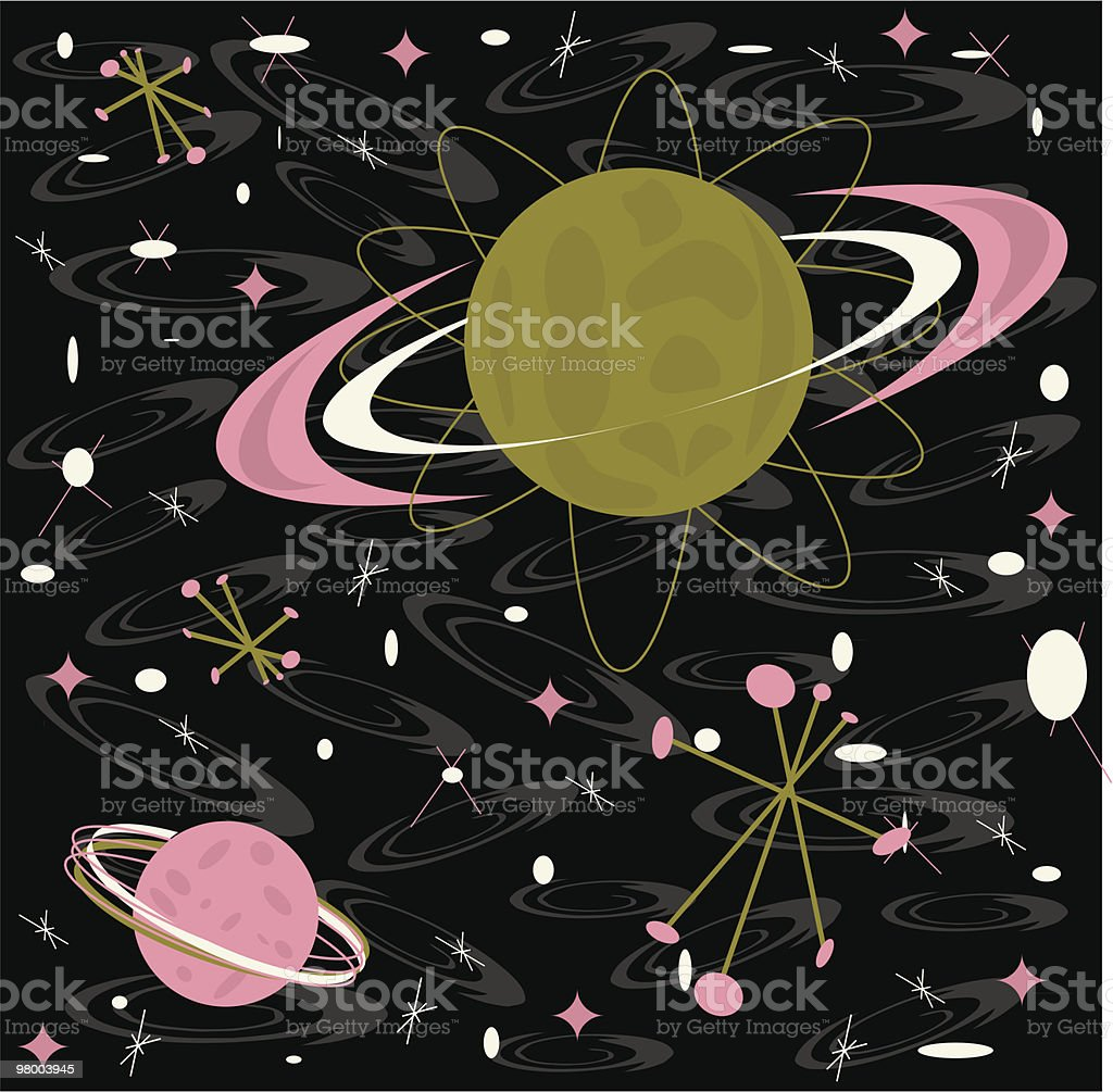 Retro Galaxy royalty free retro galaxy stockvectorkunst en meer beelden van 1950-1959
