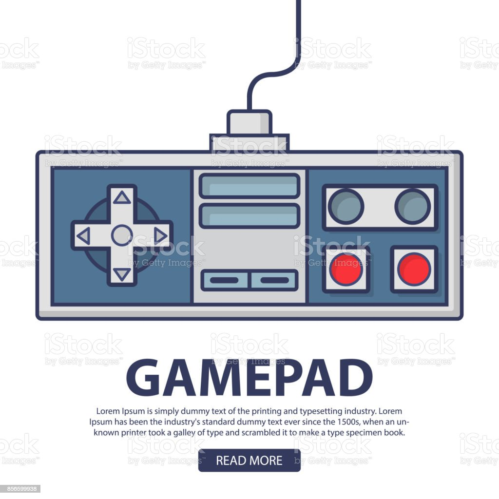 Retro Game Pad The Joystick For The Video Game Old Console To The ...