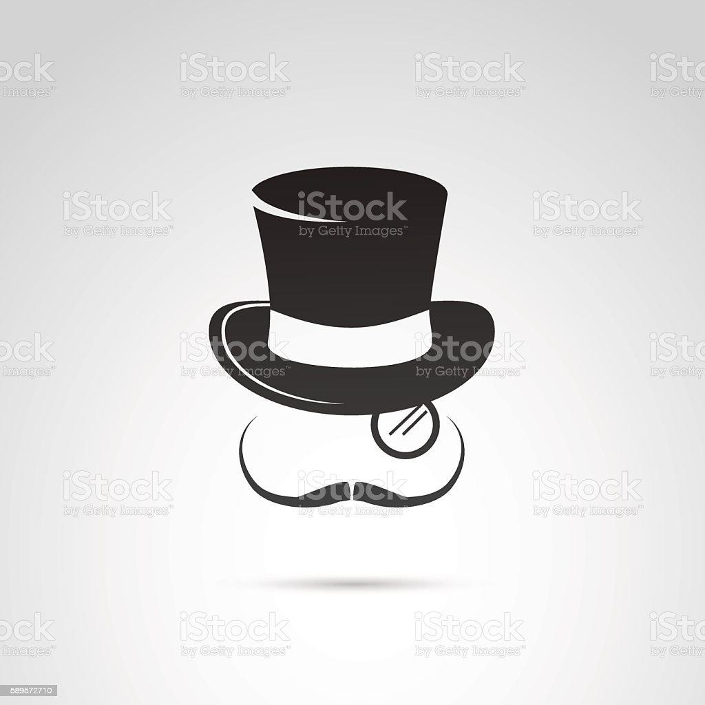 Retro gentleman icon. vector art illustration