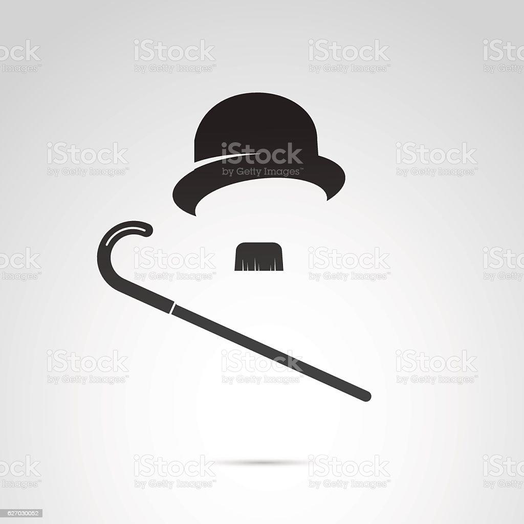 Iconos Retro los caballeros. - ilustración de arte vectorial