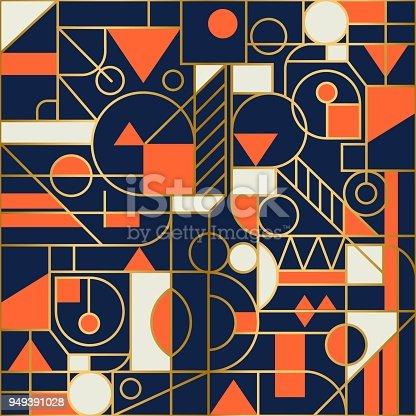 Retro geometric Seamless background design. Modern pattern.