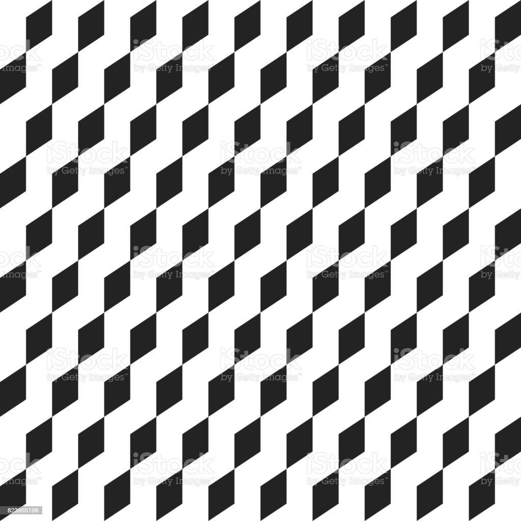 Ilustración de Cubo Geométrico Retro Formas Sin Costura Patrones ...