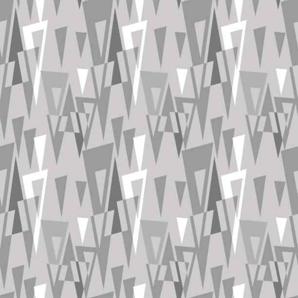 Retro geometric pattern vector art illustration