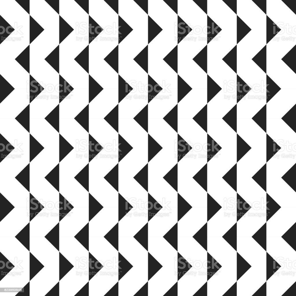 Ilustración de Retro Geométrica Formas Sin Costura Patrones ...