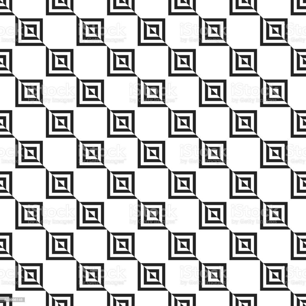 Ilustración de Cuadrado Geométrico Retro Formas Sin Costura Patrones ...