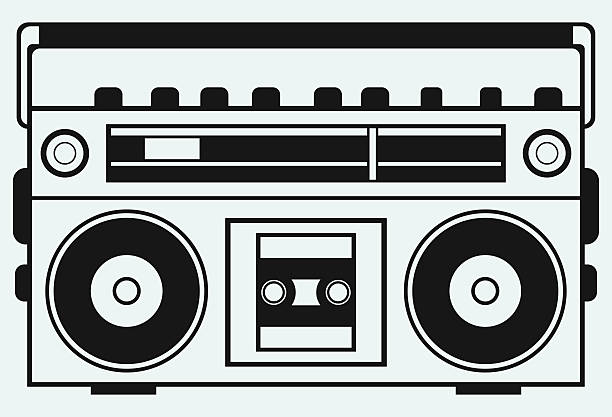 Royalty Free Boom Box Clip Art, Vector Images ...