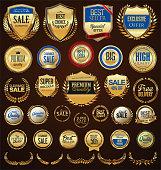 Retro golden badge