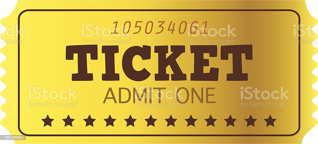 Retro golden Coupon isolated on white royalty-free retro golden coupon isolated on white stock vector art & more images of accessibility