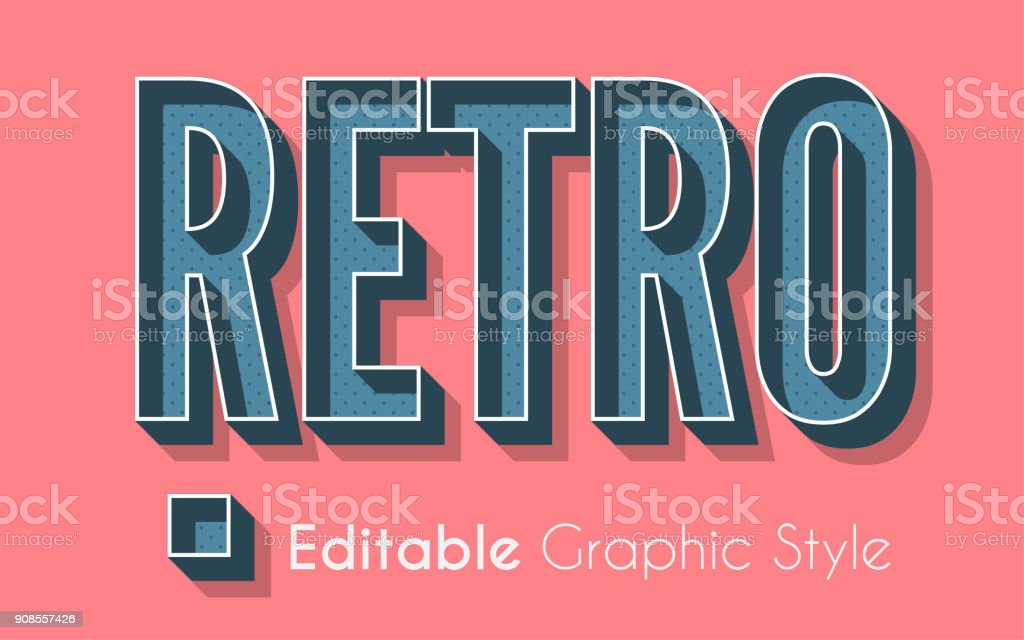 3D Retro Graphic Style royalty-free 3d retro graphic style stock illustration - download image now