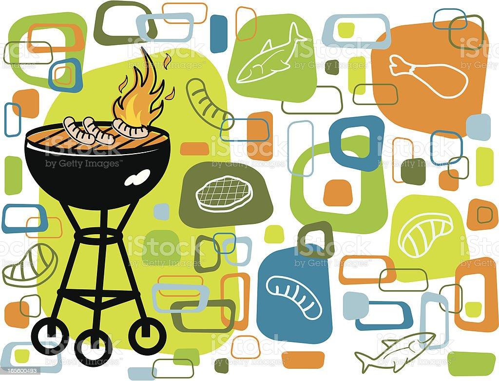 Retro grill pattern royalty-free stock vector art