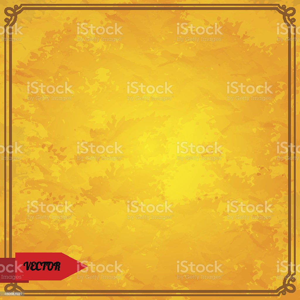 Retro grunge background with frame royalty-free stock vector art