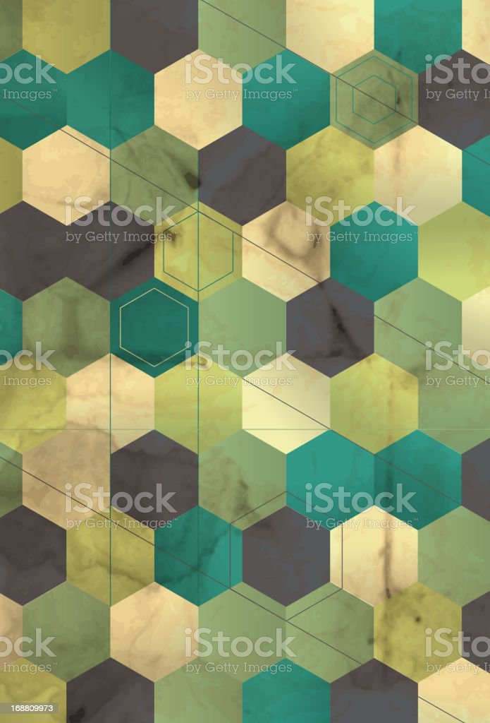 retro grunge honeycomb pattern background royalty-free stock vector art