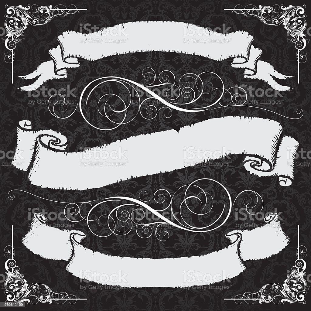 Retro Grunge Ribbon Label Stock Vector Art & More Images