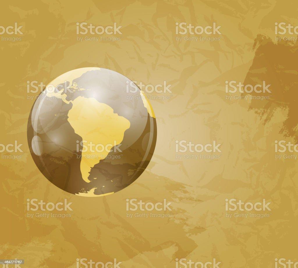 Retro grunge world map vector illustration stock vector art more retro grunge world map vector illustration royalty free retro grunge world map vector illustration stock gumiabroncs Images
