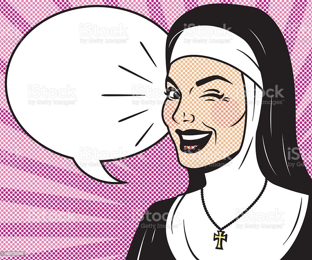 Retro semitono personajes de cómic discurso burbujas con - ilustración de arte vectorial