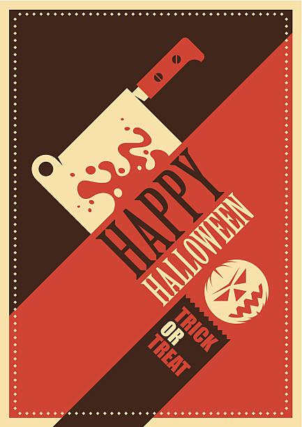 retro halloween poster design. - vegetable blood stock illustrations, clip art, cartoons, & icons