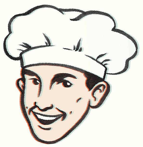 illustrations, cliparts, dessins animés et icônes de rétro saine cook - boulanger