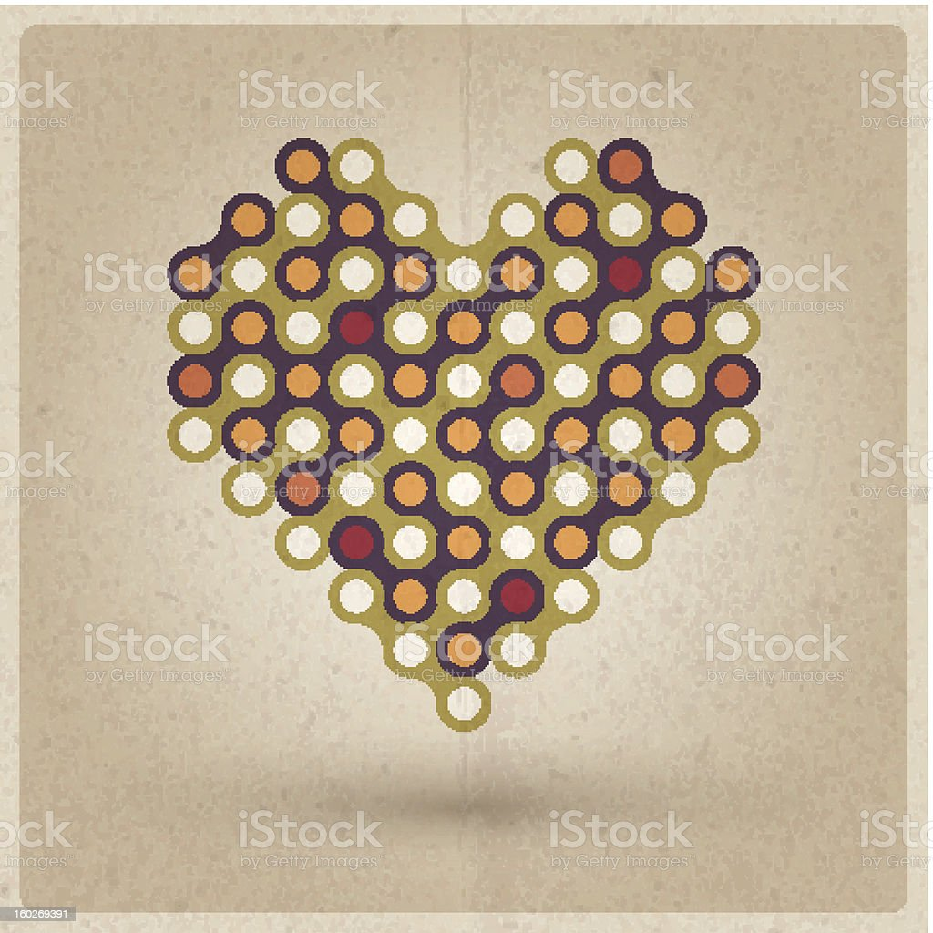 Retro Heart royalty-free retro heart stock vector art & more images of backgrounds