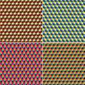 Retro hexagon background with 4 different colour themes.  JPG files of each colour theme are in zip file separately. Aics3 file is also included.