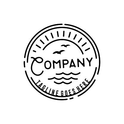 Retro Hipster Stamp for Beach Surf design