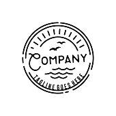 istock Retro Hipster Stamp for Beach Surf design 1173276968